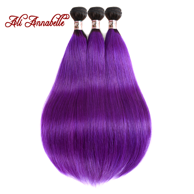 Ali Annabelle Hair Brazilian Ombre Hair Straight 3 Bundles 10 24inch