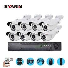 Syarin Детская безопасность 8ch полный 1080n видеорегистратор с 1800tvl 720 P наружного видеонаблюдения Камера комплект HD AHD 8-канальный 1mp CCTV Системы
