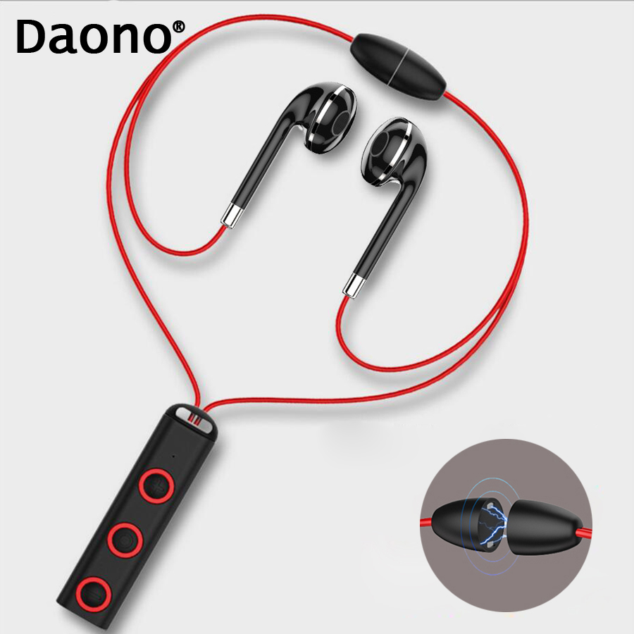 Daono High Quality Sports Bluetooth Headphone Sweat Proof Earphone Magnetic Earpiece Stereo Wireless Headset for Mobile Phone free shipping wireless bluetooth headset sports headphone earphone stereo earbuds earpiece with microphone for phone
