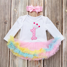 2018 Fashion Newborn Infant Baby 1st Birthday Gifts For Girls Outfits Tutu Dress+Headbands Set Dropshipping roupa menina Z*#(China)