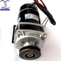 450w 24V/ 36V / 48v belt pulley gear motor ,brush motor electric tricycle motor , DC gear brushed motor, MY1020ZXF