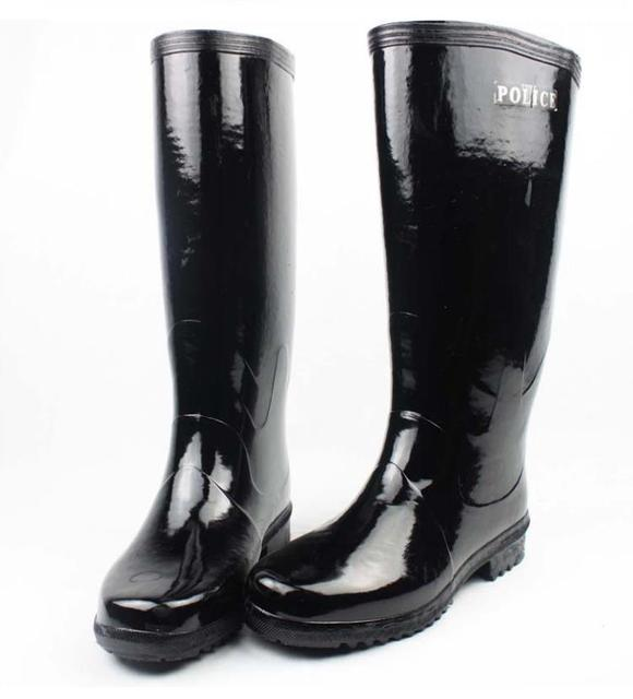 Uomo di gomma stivali di Gomma stivali da pioggia nero pesca caccia stivali  da lavoro per 8826d7a318f