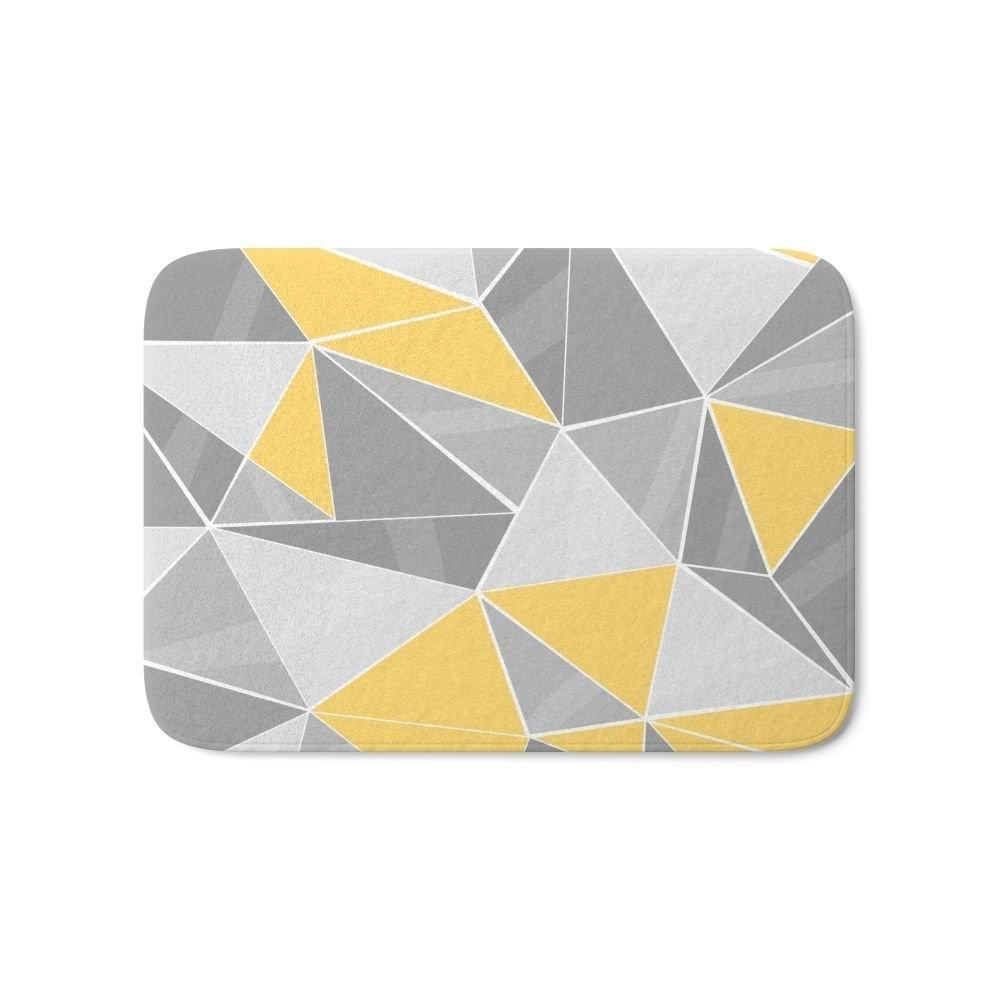 Pattern Grey Yellow Bath Mat Entrance Door Bathroom Kitchen Carpets Doormats For Living