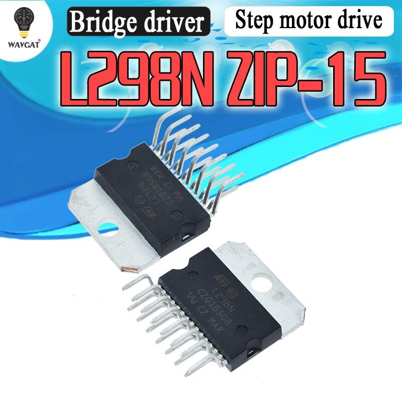 IC L298N Модуль платы драйвера двигателя шаговый двигатель dc can wit car robot ZIP 15|Интегральные схемы|   | АлиЭкспресс