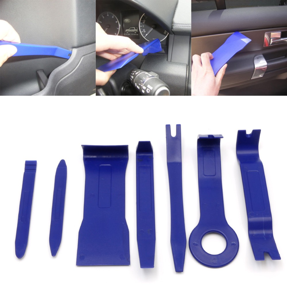 Compare prices on car interior door panel repair online shopping 7pcs hard plastic auto car radio panel interior door clip panel trim dashboard removal opening tool eventelaan Gallery