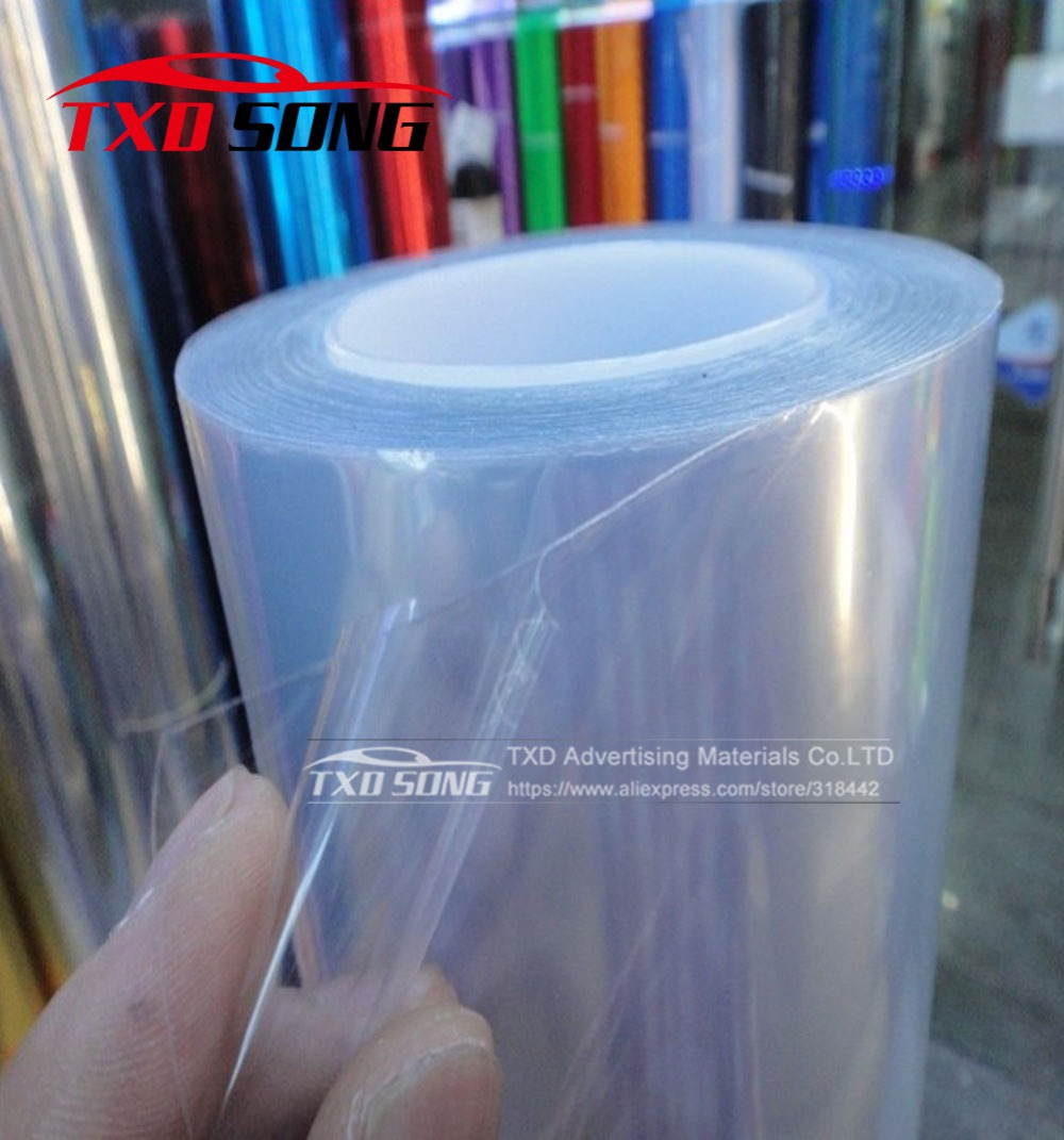 Anti Scratch Car Bumper Hood Paint Protection Film Vinyl Clear Transparence film Car styling With Size: 1.52*30m/Roll Free ship