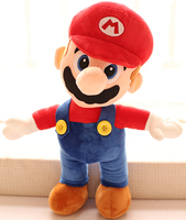 Gift for baby 1pc 50cm cute creative delicate Super Mario brother game pacify plush hold doll novelty children stuffed toy