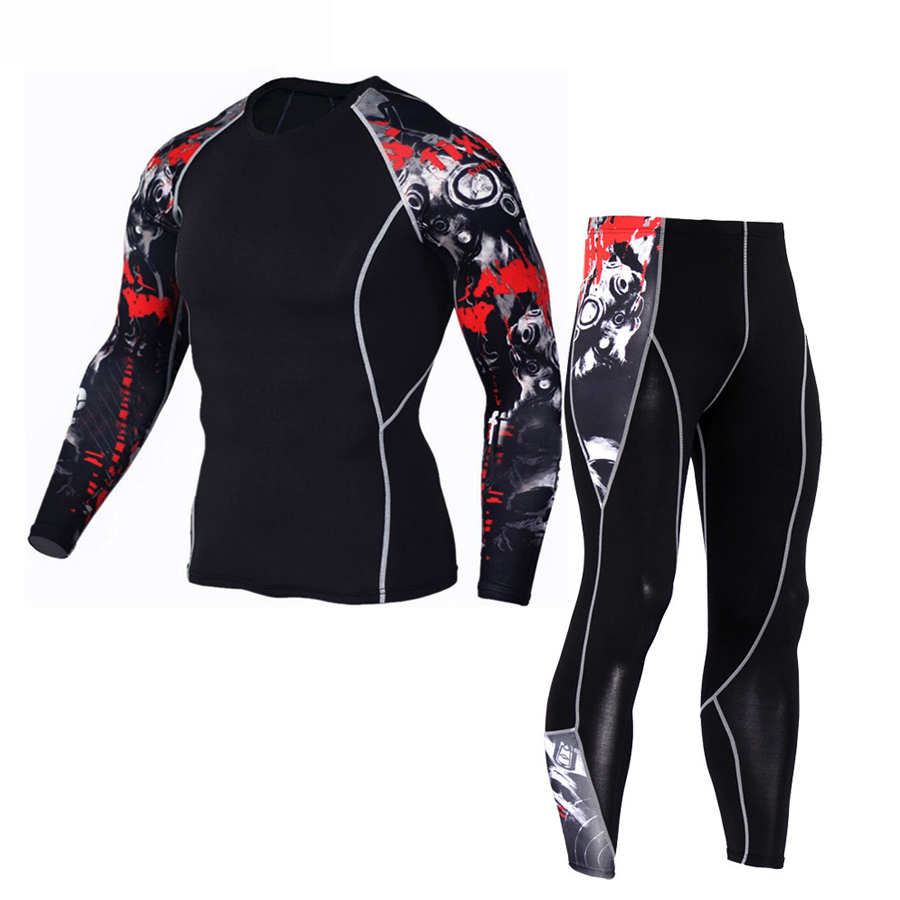 MMA Compression Sport Suit For Men Mma Rashguard Muay Thai Kickboxing T Shirt Mma Boxing Jerseys+Pants Workout Sports Tracksuit