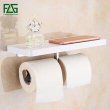 Держатель для туалетной бумаги flg настенный держатель из белого