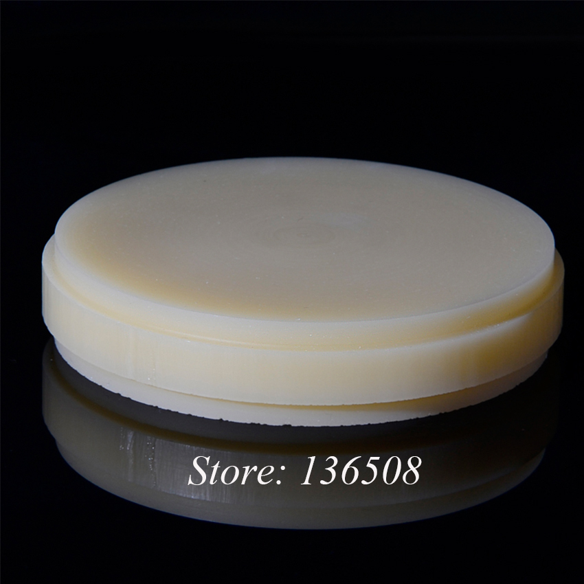 ФОТО (5 pieces/lot )100% resin pmma blank for Roland, Yenadent, Imes-icores, Origin Dental Pmma Disk for Temporary Denture and Mould