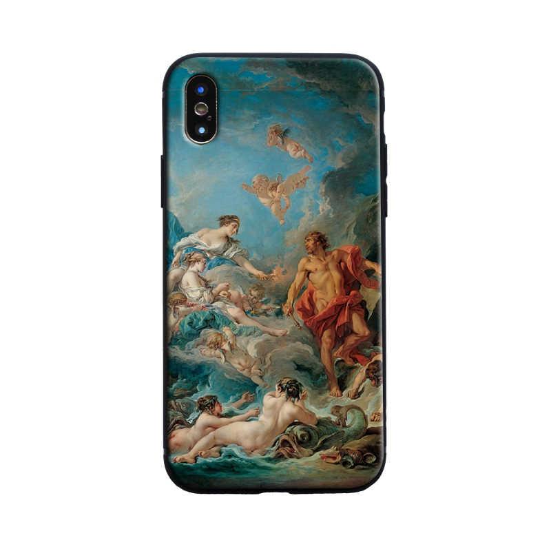 Funda de teléfono clásica con pintura floral estética para Apple iPhone 5 Se 5 S 6 6s 7 8 Plus 8 Plus X XR XS MAX 11 pro max