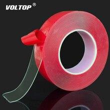 Naklejki samochodowe czerwona przezroczysta taśma dwustronna silikonowa naklejka na samochód wysoka wytrzymałość bez śladów naklejki samoprzylepne żywe...