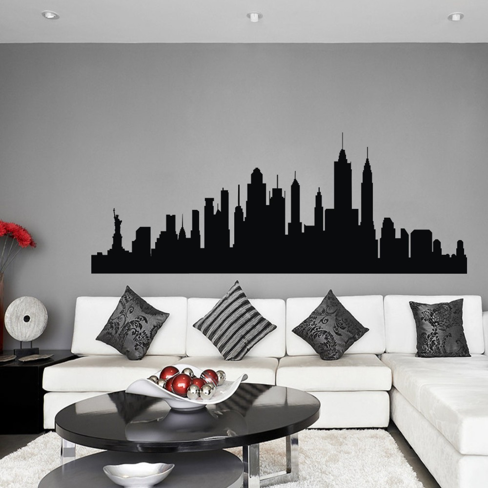 Aliexpress.com : Buy Wall Decal New York City NYC Skyline Cityscape Travel  Vacation Destination 3D Wall Sticker Art Wall Graphic Mural 21 Part 86
