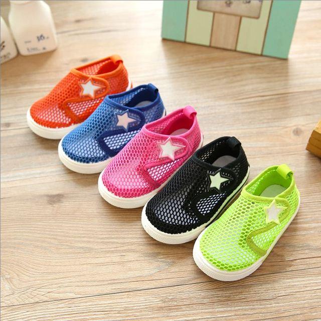 O bebê de Verão para crianças tênis sapatos sandálias malha respirável calçados infantis da criança do bebê sandálias meia respirável