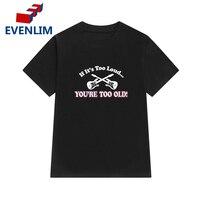 EVENLIM Brand Clothes Women Summer T Shirt Black White Short Sleeve T Shirt Punk Fashion Rock