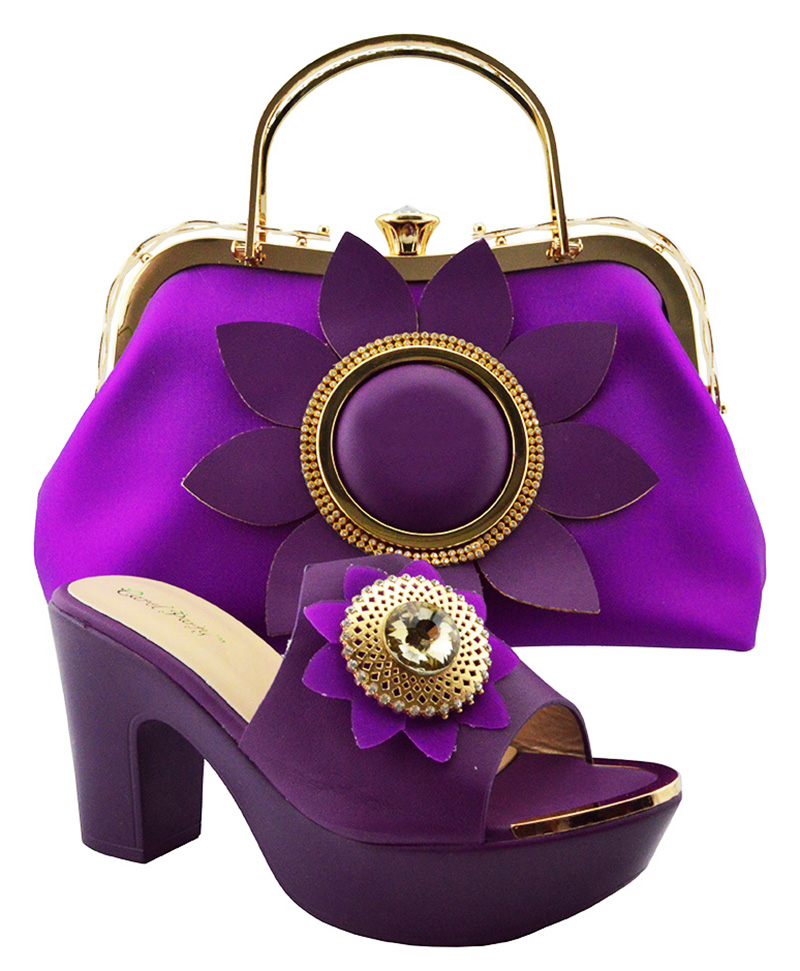 Italian Design African Fashion Shoes and Bags Matching Set Nigeria Style Women's Shoe and Bag to Match for Wedding Party QSL003 цена