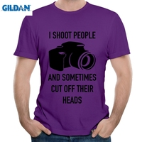 GILDAN I Shoot People Cut Off Their Head Men S T Shirt Short Sleeve Hipster Men