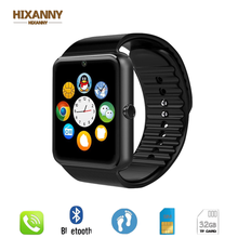 HIXANNY Bluetooth SmartClock GT08 Clock With Sim Map Slot Push Message Bluetooth Connectivity Android and IPhone Smartwatch GT08