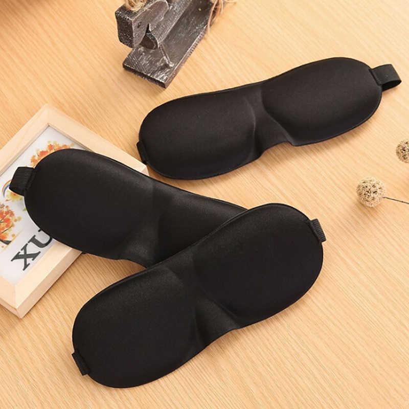 1 ADET Siyah Uyku Maskesi Körü Körüne Göz Maskesi Seyahat Uyku Yumuşak Doğal Yastıklı Gölge Kapak Istirahat Relax göz bandı 2 Stilleri