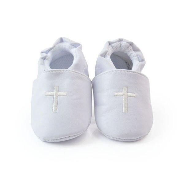Stylish Boy Girls Baby Cross Baptism Crib Shoes Toddler Infant Soft Sole Prewalker First Walkers