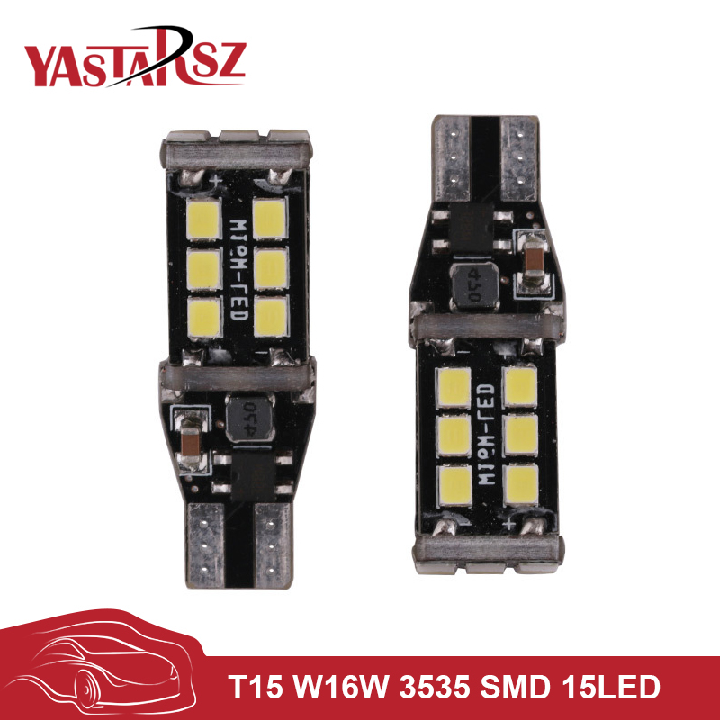 2PCS New Car led Canbus 7.5w T15 LED Reverse Light W16W 15SMD Car LED NO ERROR Back UP light rear Lamp white Car styling 2pcs brand new high quality superb error free 5050 smd 360 degrees led backup reverse light bulbs t15 for jeep grand cherokee
