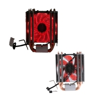 4 Heatpipe 130W Red CPU Cooler 3 Pin Fan Heatsink For Intel LGA2011 AMD AM2 754