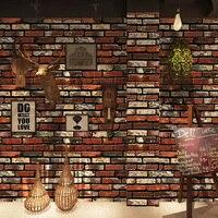 PVC Waterproof Self adhesive Wallpaper 3D Stone Brick Wall Paper Wall Stickers Home Decor Kitchen Bedroom Living Room Wallpaper