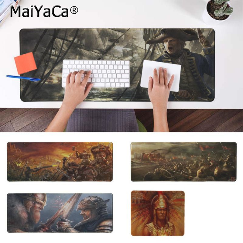 Maiyaca Hot Sales Age Of Empires Office Mice Gamer Soft Mouse Pad Free Shipping Large Mouse Pad Keyboards Mat image