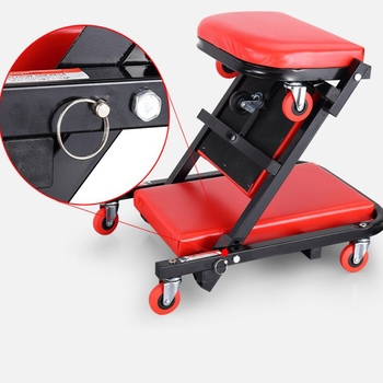 Foldable Artificial Z Creeper Mechanic Adjustable Workshop Car Creeper Seat