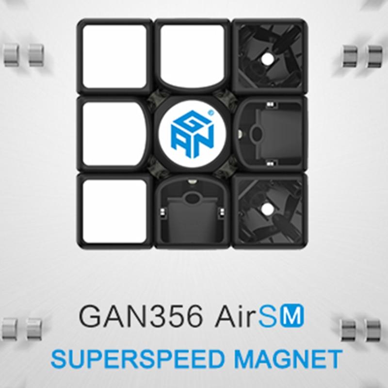 Gan356 Air SM 3x3x3 Speedcube Magie Noire Cube GAN Air SM Magnétique 3x3x3 vitesse Cube Gans 356 Air SM Puzzle Jouets Pour Enfants