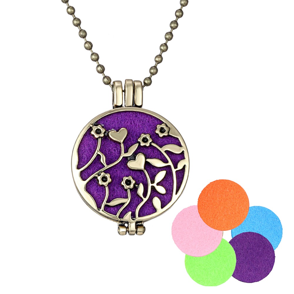 Aromatherapy lockets Essential oil Diffuser Necklace pendant hollow out phase box pendant aromatherapy Drop shipping 16N0045