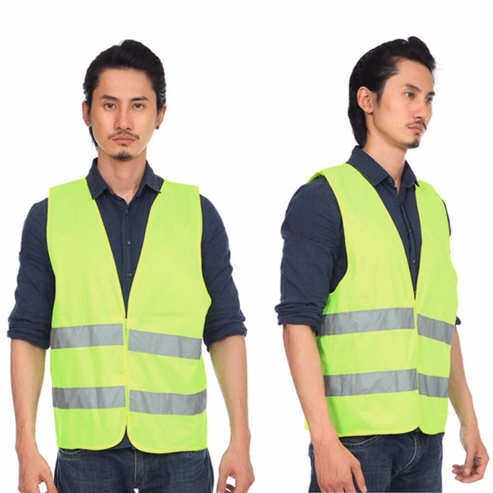 Reflective Vest High Visibility Fluorescent Outdoor Safety Clothing Waistcoat reflective Vest Traffic Motorcycle Night Rider