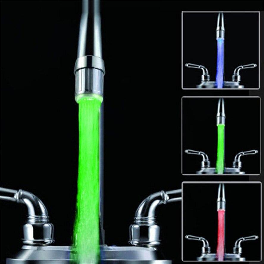 Счастливый дом 3 цвета Свет Изменение смеситель для душа Водопроводной воды Термометры без Батарея Happy Подарки Высокое качество ABS челнока