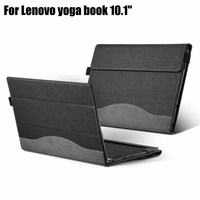 Creative Design Tablet PC Cover for Lenovo Yoga Book 10.1 Laptop Case PU Leather Protective Skin Stylus Protective Film as Gift