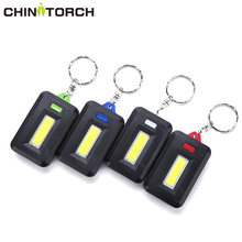 NEW Mini LED Keychain Flashlight 3 Modes Waterproof Key Chain Torch Light Outdoor Emergency Camping Lamp COB LED Backpack Light(China)