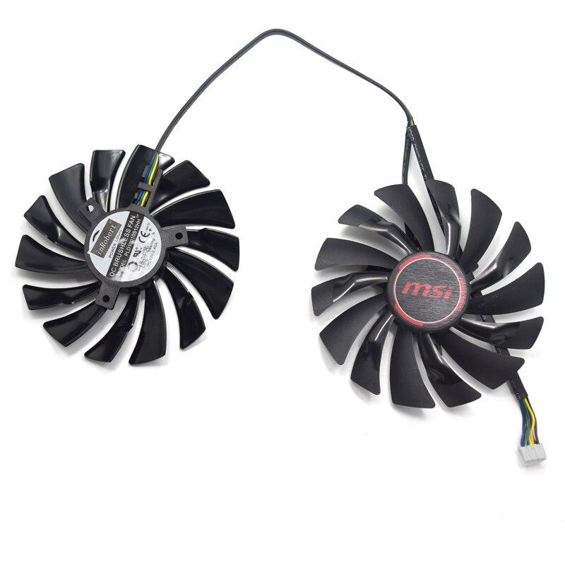 NEUE 2 teile/los 95mm PLD10010S12HH 4PIN DC12V Kühler lüfter Für MSI R9 390X/R9 390/R9 380 GAMING Grafikkarte Fan