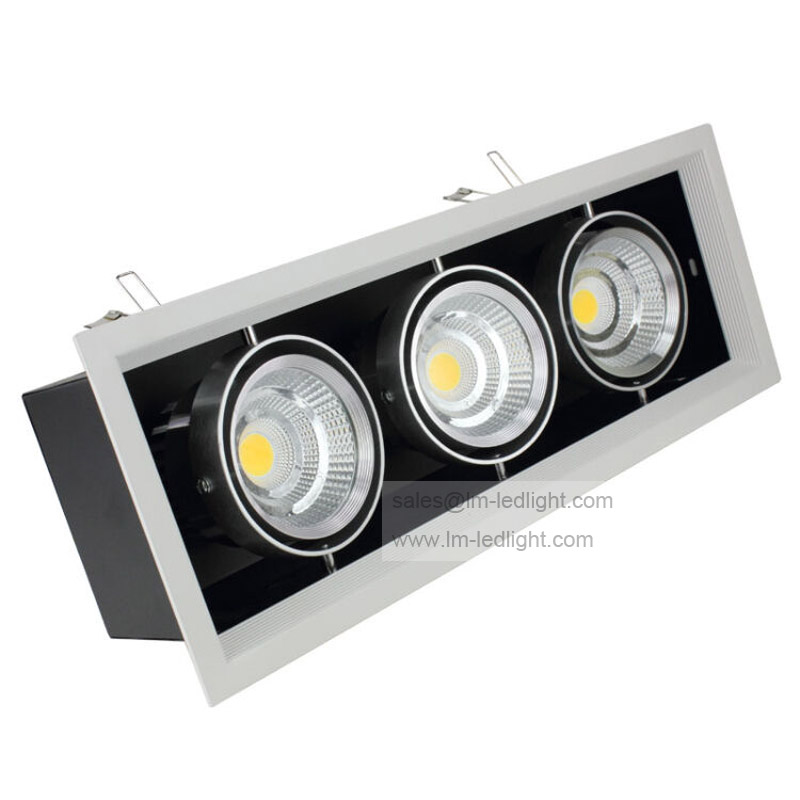 Dimmable 3x10w Led Downlight High Brightness 30W LED COB Recessed Ceiling Lamps Warm/Cool white AC85-265V Indoor lamp the new super bright led built dimmable downlight cob 3w 5w mr16 gu10 led spot light led decoration ceiling lamp ac220 led lamp