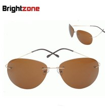 Free Shipping 9 colors rimless frame non-screw memory titanium flexible Polarized Sunglasses sun-shade eyeglasses Eyecare S2014