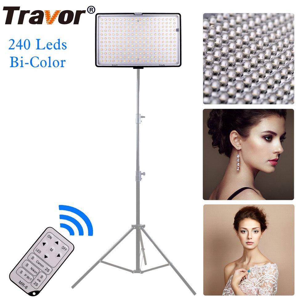 Travor 240pcs zweifarbiges LED-Videolicht mit IR-Fernbedienung - Kamera und Foto