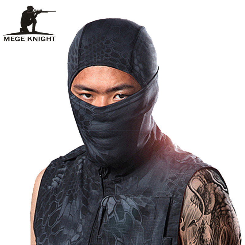 MEGE militaire Paintball Airsoft Wargame tactique respirant le visage antipoussière, masques de protection unisexe
