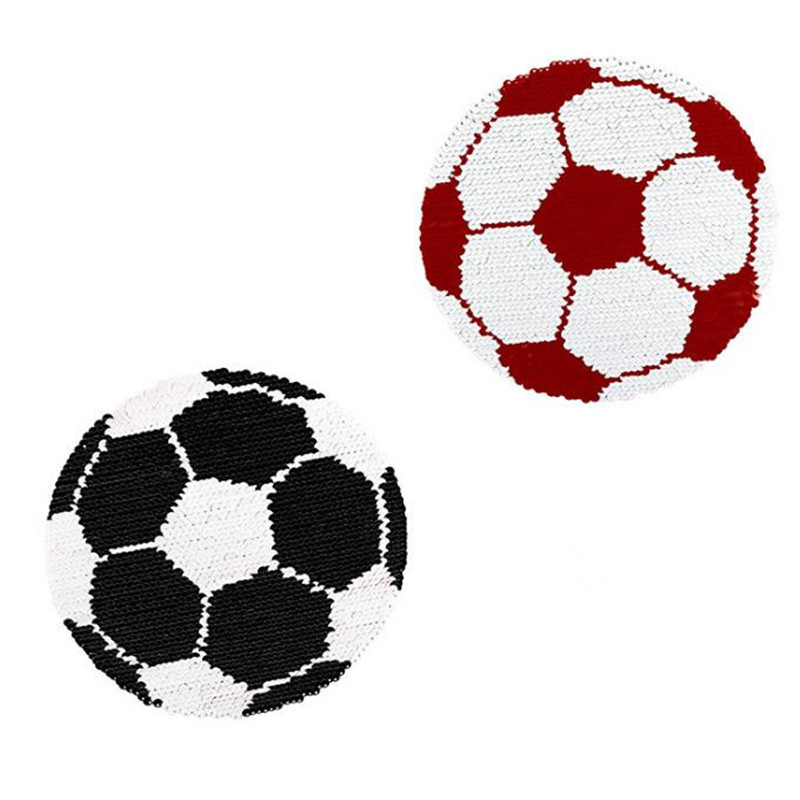 Patch deal with it clothes t shirt women stickers Reversible change color sequins football 20cm fashion patches for clothing