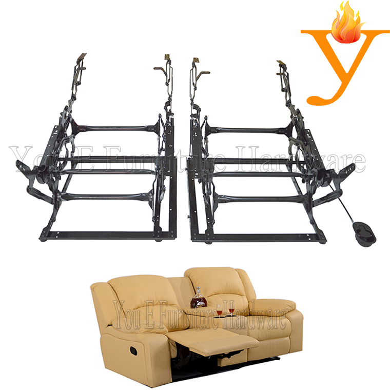 2 Seats Sofa Manually Recliner Chair Hardware Mechanism C4311 On
