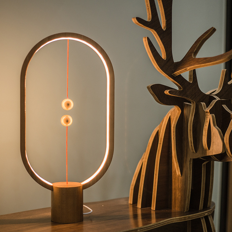 Balance Lamp LED Night Light For Home Decor USB Powered Novel Light Bedroom Office Table Night Lamp Gift For Kids
