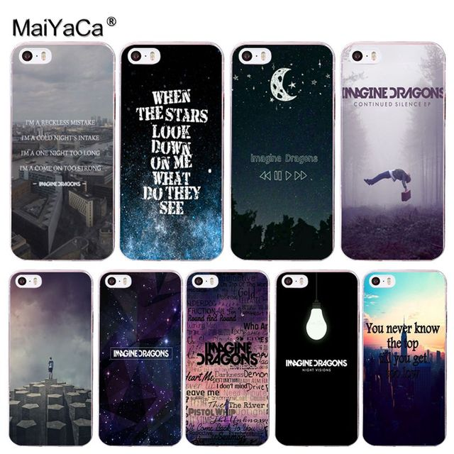maiyaca imagine dragons night music style cell phone case for iphonemaiyaca imagine dragons night music style cell phone case for iphone 8 7 6 6s plus x 10 5 5s se xr xs xs max coque shell