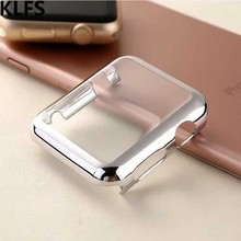 цена на KLFS  PC Case For Apple Watch 4 band 44mm 40mm 42mm 38mm iwatch4 3 2 1 protective Frame screen protector plating cover shell
