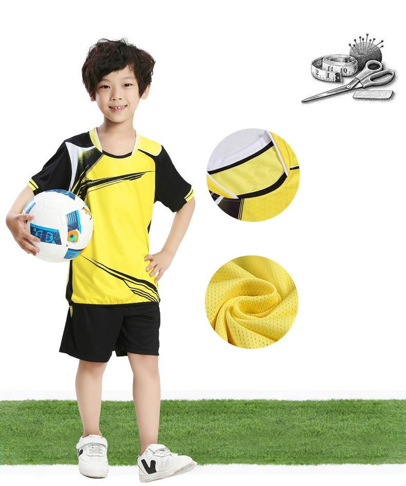 Niño niños fútbol Set Survetement fútbol deporte Kit Futbol jóvenes Boy  chándal uniformes traje Maillot De pie personalizado b3ed74054e405