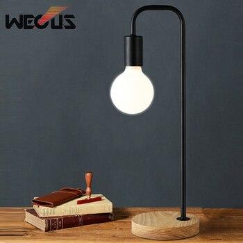 Нордическая Ретро Настольная лампа для спальни прикроватная офисная подсветка персональная креативная лаконичная Защитная лампочка для г... >> wecus Official Store