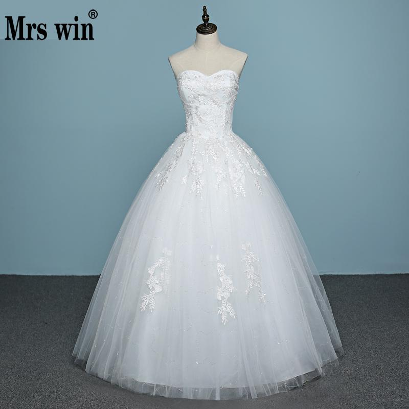 Vestido De Noiva 2019 Strapless Hot Sales Lace Cheap Wedding Dress Made In China Applicue Sexy