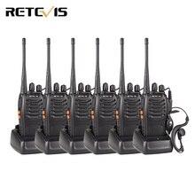 6 unids Walkie Talkie Retevis H777 3 W UHF 400-470 MHz de Frecuencia de Radio de Jamón Portátil Hf Transceptor de Radio comunicador de Handy A9105