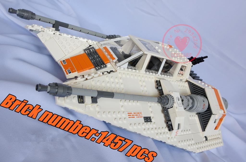 lepin 05084 Star wars the Snowspeeder Model Building blocks Bricks set compatible 75144 10129 Classic education Toy children